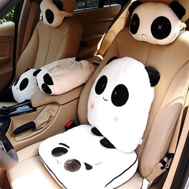 布迪熊猫汽车头枕,轿车通用,单只