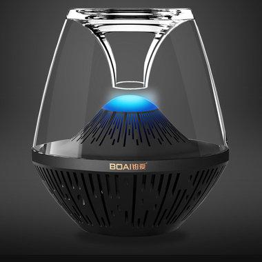 透明音箱,重低音,个头大,呼吸灯