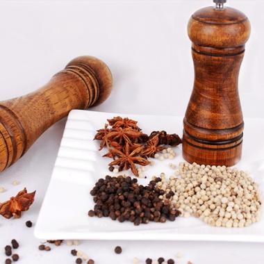 手动木胡椒粉研磨器,实木打造,环保健康,家庭必备