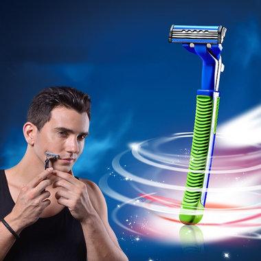 1刀架+8刀头,送1剃须膏,使用方便
