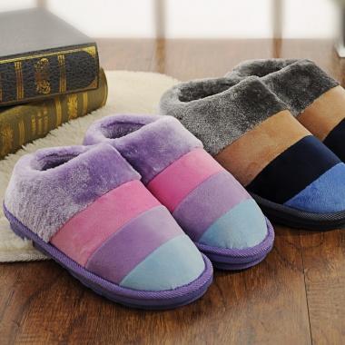 厚底防滑,加绒包跟,保暖棉拖鞋