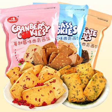 卜珂蔓越莓曲奇饼干3袋,多种口味