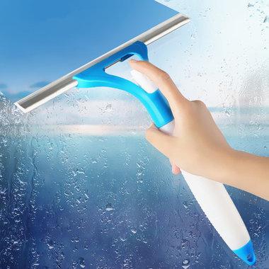 同步喷水,刮水, 方便快捷,多功能喷水式玻璃擦