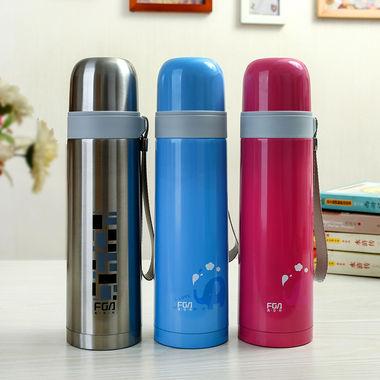 富光不锈钢真空保温杯,超长保温,出行便携