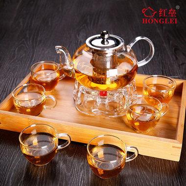 不锈钢,过滤玻璃花茶壶,红茶壶套装