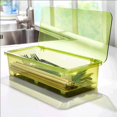 筷子盒,沥水设计,带盖子,方便实用