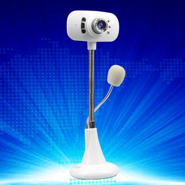高清夜视免驱电脑摄像头,8米吸音,一键拍照,夜视补光