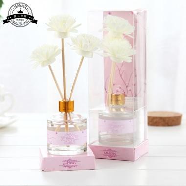 3朵香薰花,白色清新风格,时尚简约