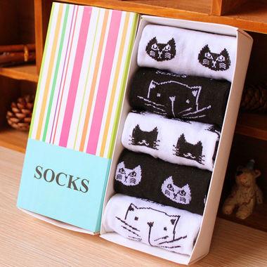 女士秋冬新款,加厚保暖可爱袜子礼盒,包邮