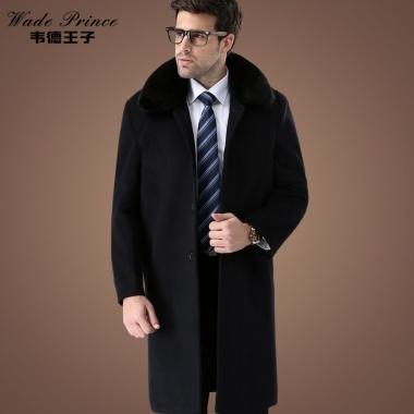 冬季新款,长款毛呢大衣,夹棉加厚
