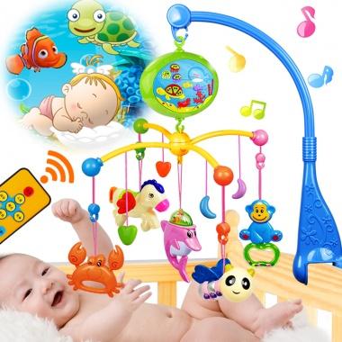 【0-3岁】新生儿宝宝摇铃0-1岁,婴儿玩具,带投影,数码按键
