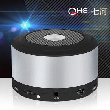 重低音插卡蓝牙音箱,聚合物电芯,直径76mm,高度52mm