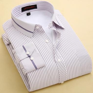 时尚条纹保暖衬衣,深色略有浮色浮毛,略有色差