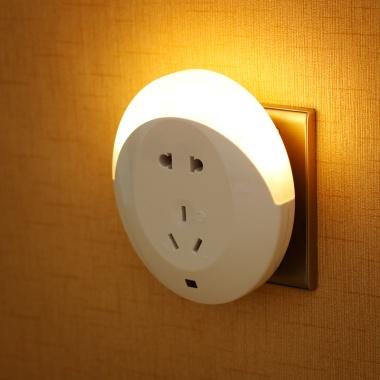 欣兰雅舍插座开关光控夜灯,实惠好用