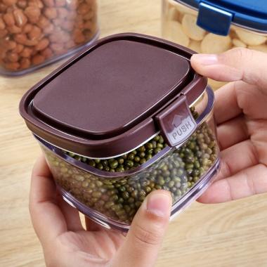 区间价5.5-12.5元,杂粮储物罐,厨房有盖塑料密封罐防菌