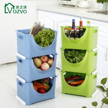 自由叠加,厨房果蔬收纳,环保材质