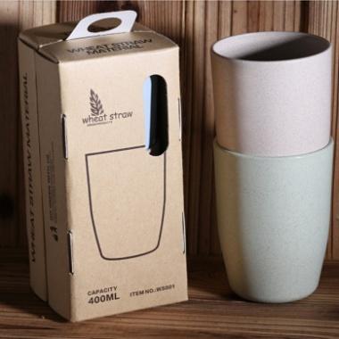 小麦秸秆漱口杯,旅行装,环保小麦刷牙杯