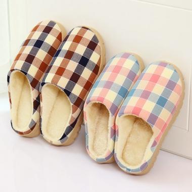 保暖毛绒棉拖鞋,舒适亲肤,面料柔软