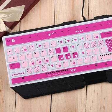 台式机专用,键盘保护膜,卡通小熊款