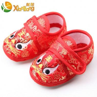【1个月-1岁】宝宝虎头鞋,富贵喜庆,宝宝学步